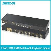 8 Порты и разъёмы HDMI коммутатора SGEYR KVM Switcher USB HDMI kvm переключатель Поддержка 1080 P 3D кнопка, горячий Ключ коммутатора для ноутбук
