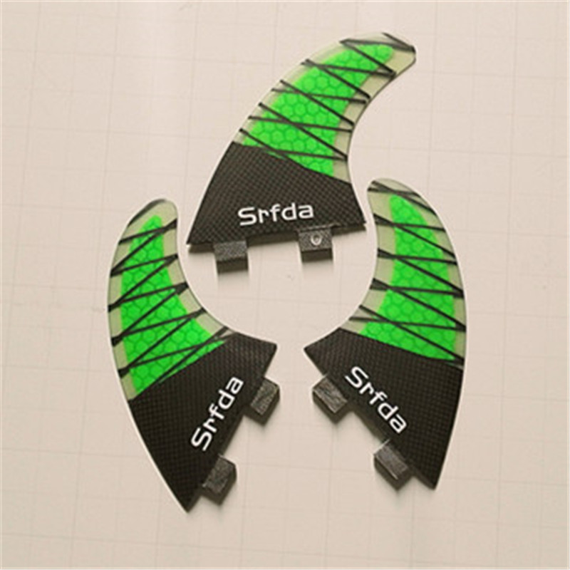 three-set Srfda Free Shipping New Hot Sell High Quality Fcs Fins G5 Surf Fins For Surfboard Fin Fiberglass Hongey Bomb
