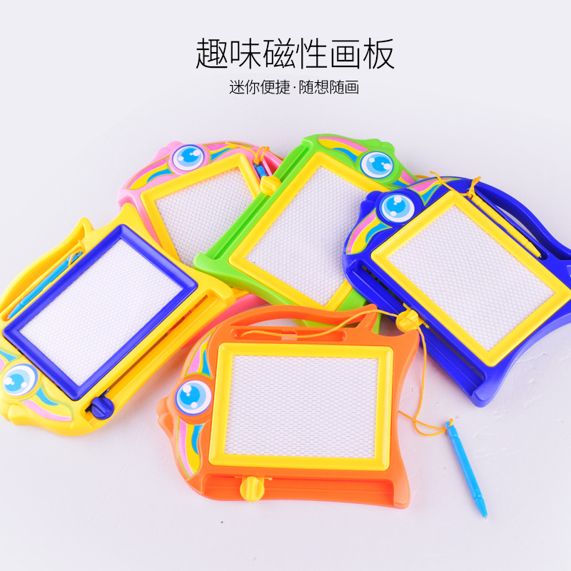 1 Random Delivery Trumpet Cartoon Early Learning Board Puzzle Black And White Painting Panel Plastic Magnetic Board Toy