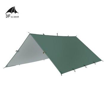 3F UL GEAR Ultralight Tarp Outdoor Camping Survival Sun Shelter Shade Awning Silver Coating Pergola Waterproof Beach Tent 240 240 180cm 2doors 2windows beach sunshade outdoor camping tent suitable for 3 4 5persons pergola awning