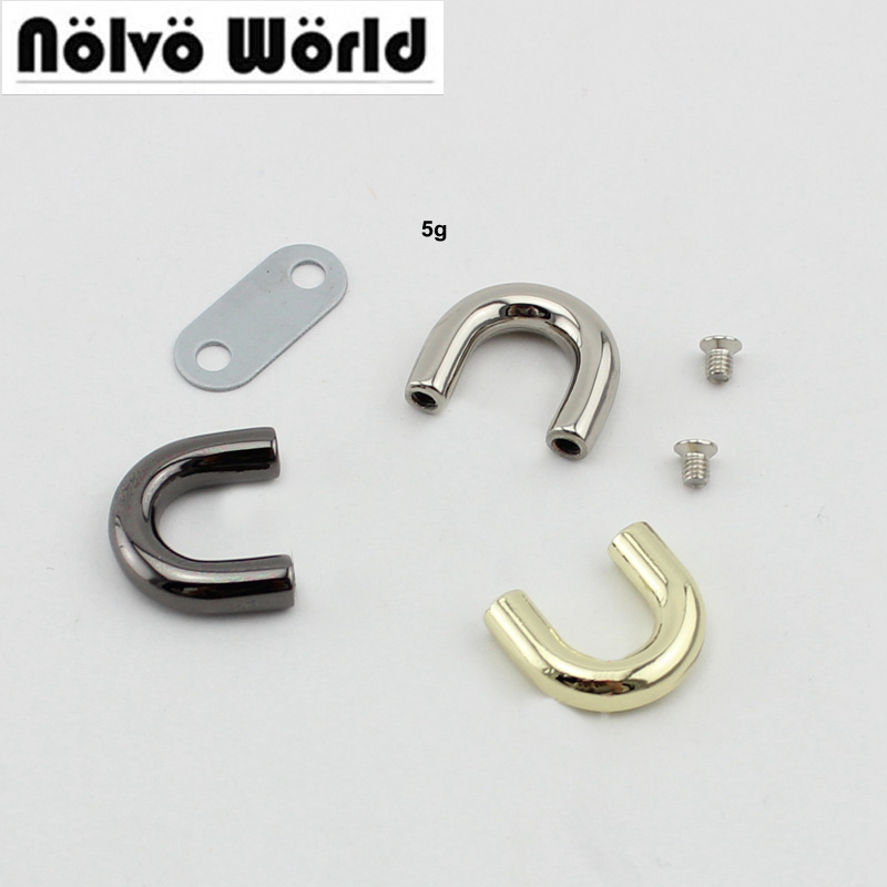 100pcs 10pcs High Quality Inside 10mm DIY Handbag Metal Accessory,arch Bridge Fashion Connector Accessory Bridge U Ring