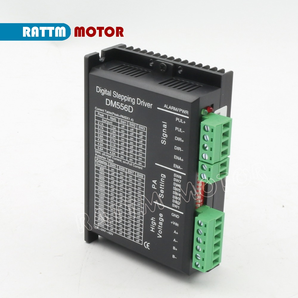 Digital stepper motor driver DM556D 5 6A 256 microstep High performance design fit nema17 to nema
