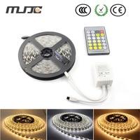 Mjjc 5メートル300 smd 5050デュアル白(暖かい白+クールホワイト) 12ボルトledストリップ非防水+ cct色温度調整可能5658