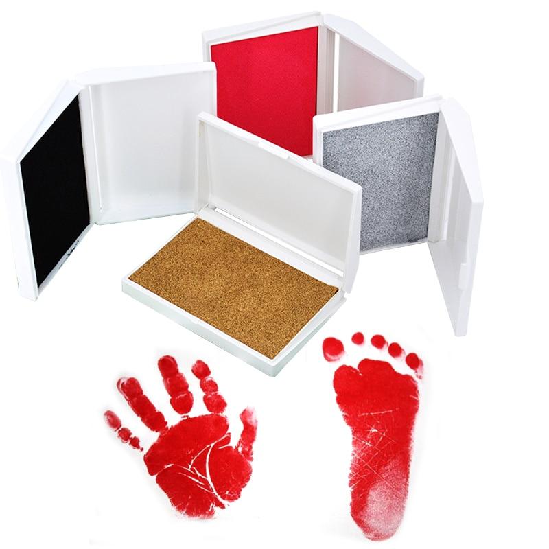 Baby Care Non-Toxic Baby Handprint Footprint Imprint Baby Souvenir Hand Foot Print Pad Parent-child Hand Inkpad Newborn Clay Toy