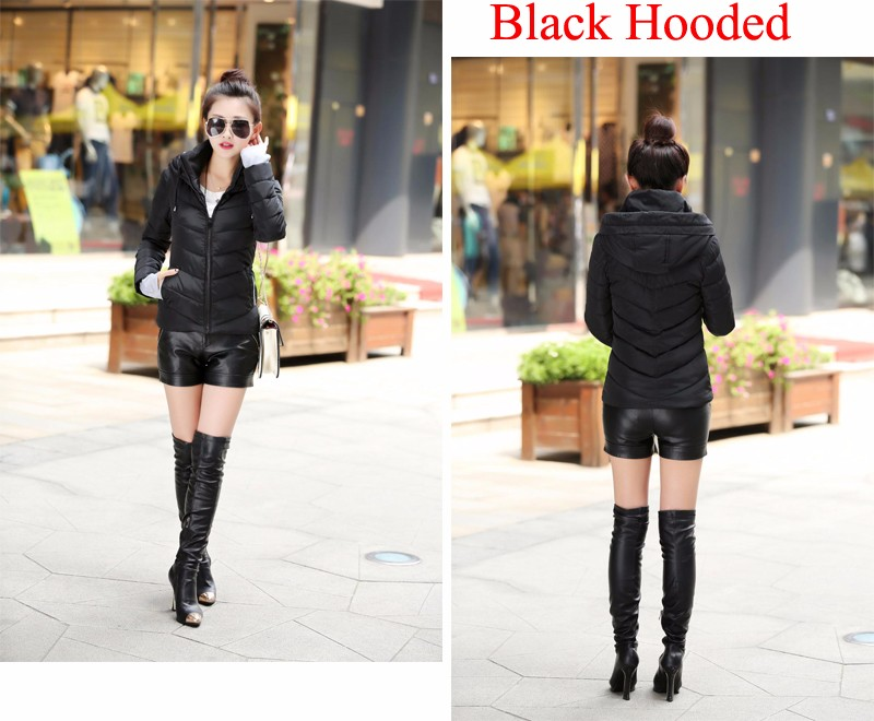Winter Jacket Women Parkas Thicken Outerwear solid hooded Coats Short 39