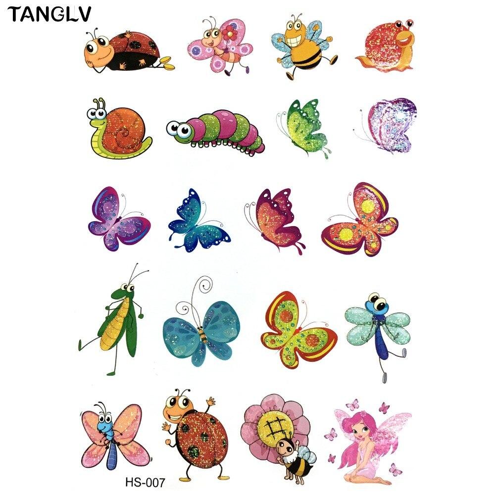 Boys and girls children cartoon design waterproof for Temporary tattoos kids