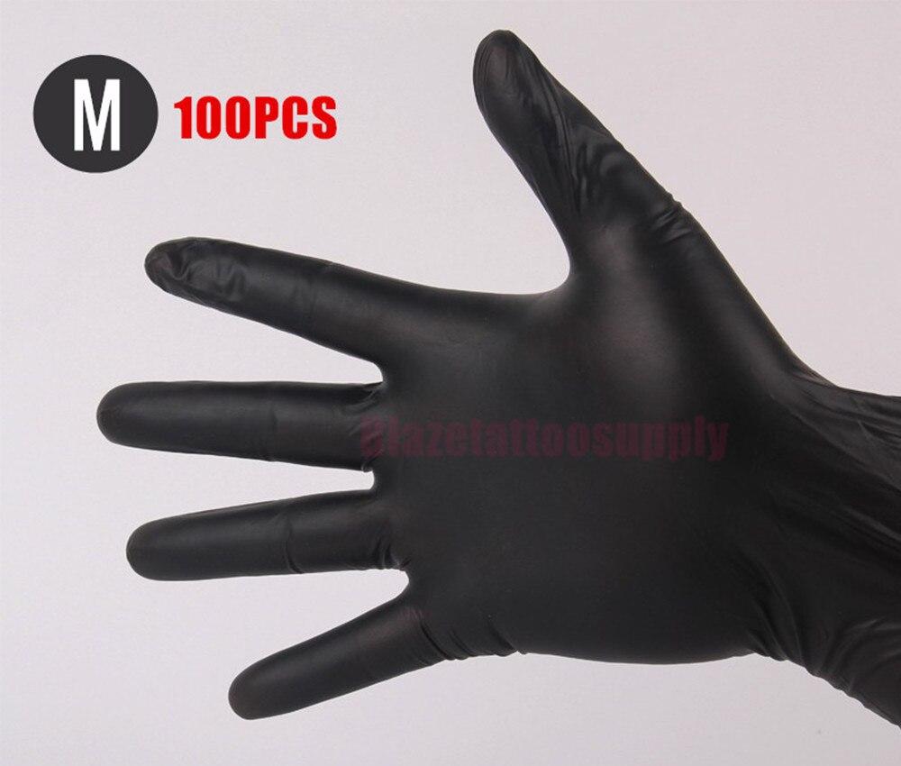 Black latex gloves xs - 100 Pcs50 Pairs Black Medium High Quality Tattoo Body Art Black Disposable Tattoo Latex Gloves