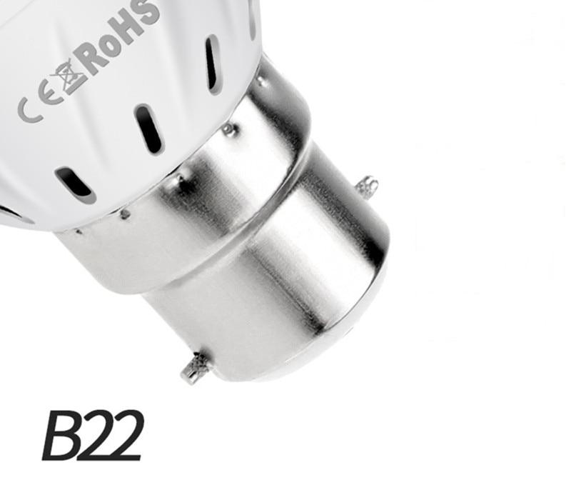 Фито светодиодный B22 гидропоники промышленная лампа E27 Светодиодная лампа для выращивания MR16 полный спектр 220 В UV светильник завод E14 цветок рассада фитолампа GU10 - Испускаемый цвет: B22
