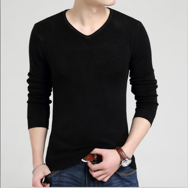 MRMT 2019 Brand New Men's Sweater Self-cultivation Youth Knitted Sweater For Male Men's Solid Color Head Sweater