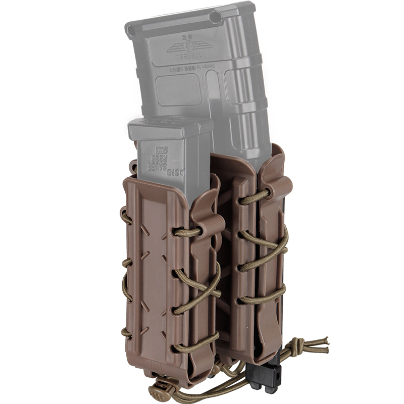 IDOGEAR Tactical Magazine Pouches 5.56 Mm Rifle Pistol Molle Pouch Airsoft Holder Poly Mag Belt Clips Pop Lock Molle Pouch Small