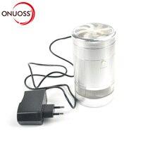 ONUOSS 5 Layer Elektrische Grinder Tabak Legering Aluminium Grinder Sigaret Gereedschap Hand Crusher Voor Roken Accessoires 129JA