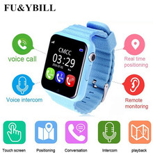 GPS smart watch kids watch V7k with camera/facebook SOS Call Location DevicerTracker for Kid Safe Anti-Lost Monitor