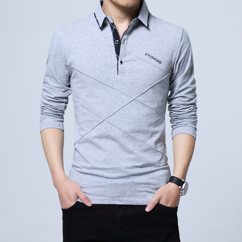 5XL Polo Shirt Collar Men Plus Size 3XL 4XL Autumn Button Brand Men Polo Shirt Long Sleeve Casual Male Shirt Dress Polo Shirts 7