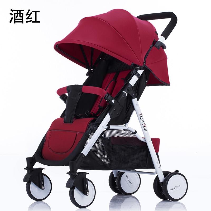 baby stroller light folding umbrella car can sit can lie ultra-light portable baby stroller ultra light portable can sit folding high landscape baby stroller bb hand push umbrella car