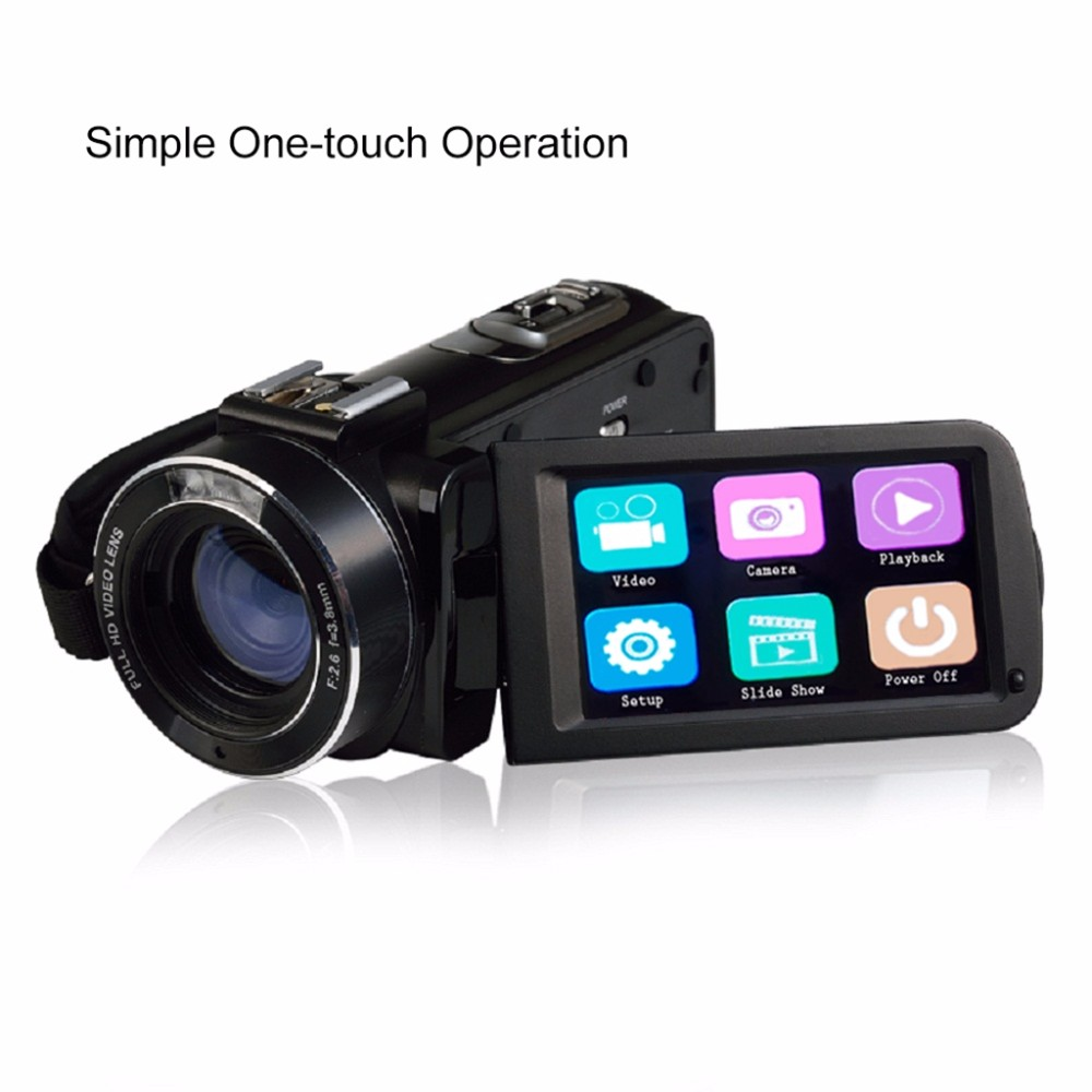 Marvie Mini Portabel WIFI Camcorder FHD 1080p@30 FPS Max 24.0 MP 16X Digital Zoom External Microphone Video Recorder DV 4