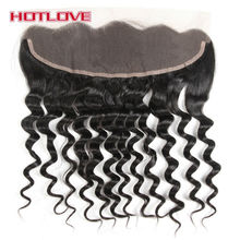 HOTLOVE Hair Free Part Frontal Loose Wave 13*4 Ear To Ear Lace Frontal Closure With Baby Hair 100% Remy Human Hair
