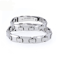 Best Quality Couple Bracelet Germanium Pure Tungsten Steel Energy Stretch Bracelet Bangle For Men Women Health Jewelry