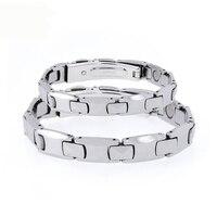 Best Quality Couple Germanium Pure Tungsten Steel Energy Bracelet Stretch Bracelet Bangle For Men Women Health