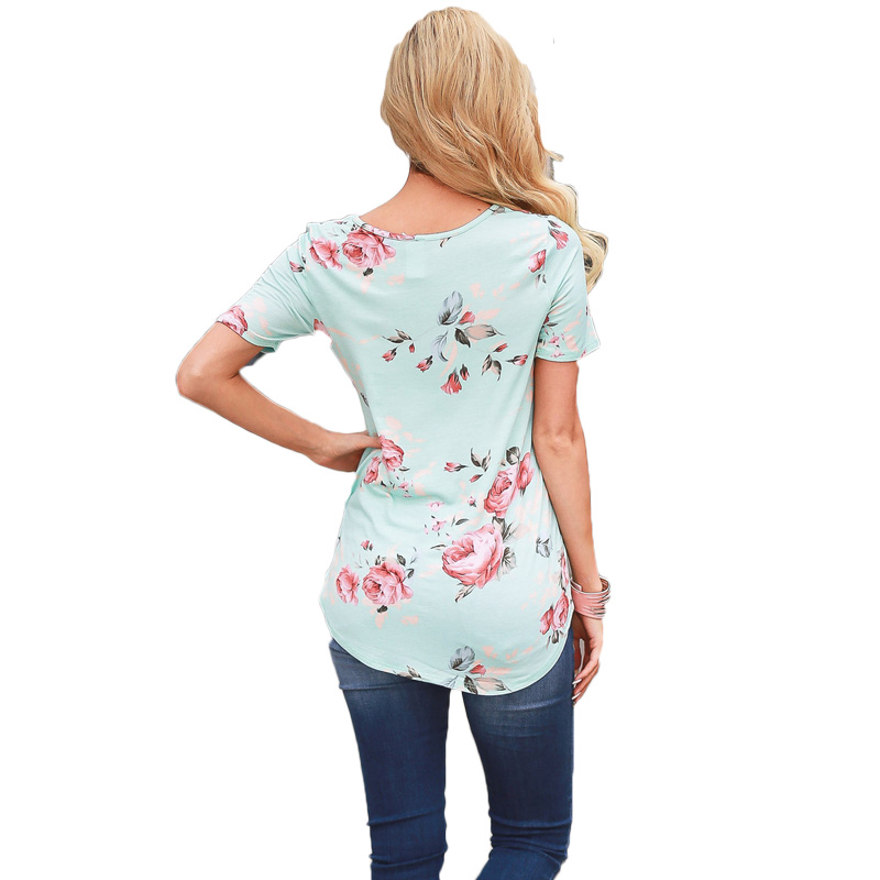 Plus Size 5xl Women Spring Summer Short Sleeve Print Blouse shirts Ladies O neck shirt Tops Female Cute Tops
