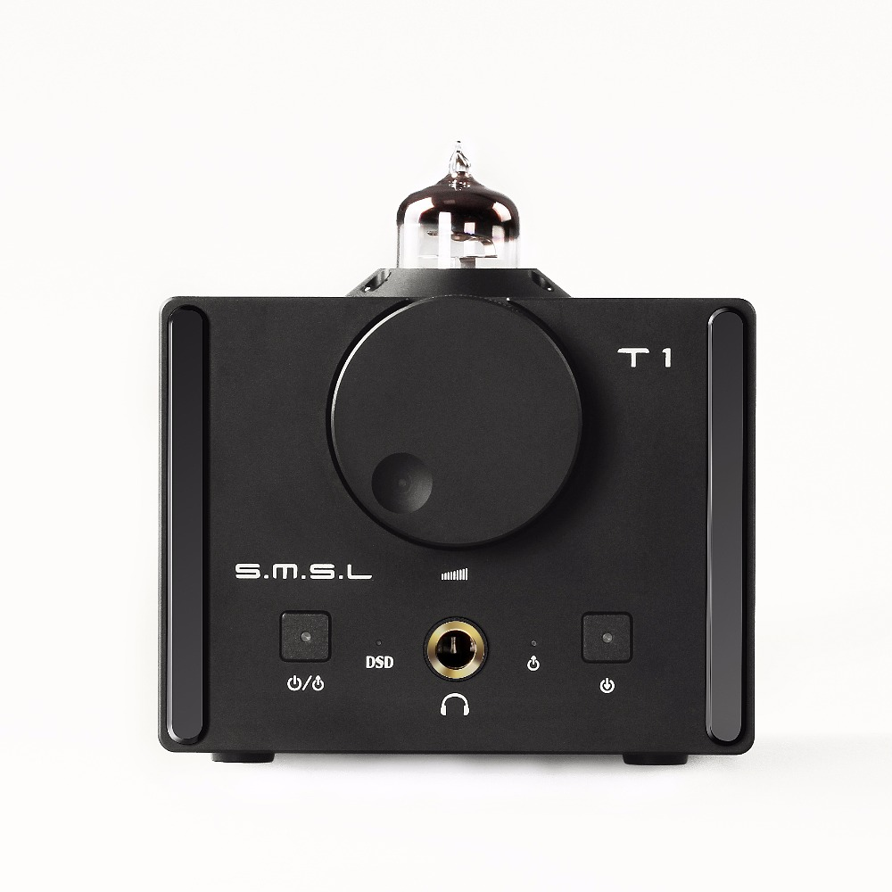 SMSL T1 Hi-Fi Audio DSD512 Tube Headphone Amplifier USB Optical Coaxial Input RCA Output 384kHz Decoder DAC l k s audio mh da004 dual es9038pro flagship dac dsd input coaxial bnc aes ebu for dop usb i2s optical audio decoder