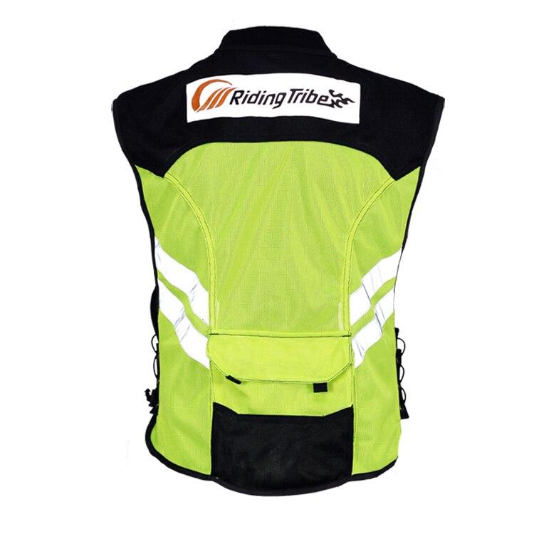 2016 Moto equitazione abbigliamento refective vest gilet di sicurezza fit uomini e donne verde taglia M-XXXL.
