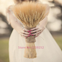 New 100 pcs Natural Dried Flowers Decorative Wheat Ear Bouquet  Branches for Wedding decoration