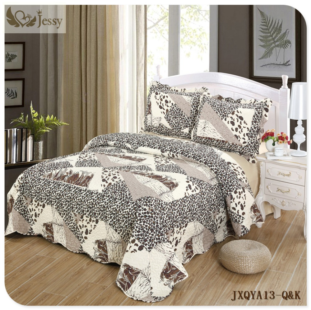 Jessy Home Fashions Stella Quilt Set, King Bed Cover Quilt 3 Pieces King  Set Oversized Bedspread Set