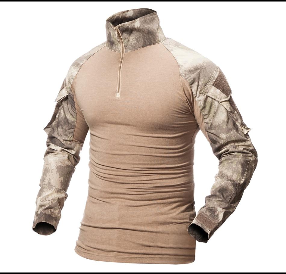 Camouflage T-Shirt Military Army Combat T Shirt Men Long Sleeve US RU Soldiers Tactical T Shirt Multicam Camo Tops spec army ru парашютный шлем вермахта