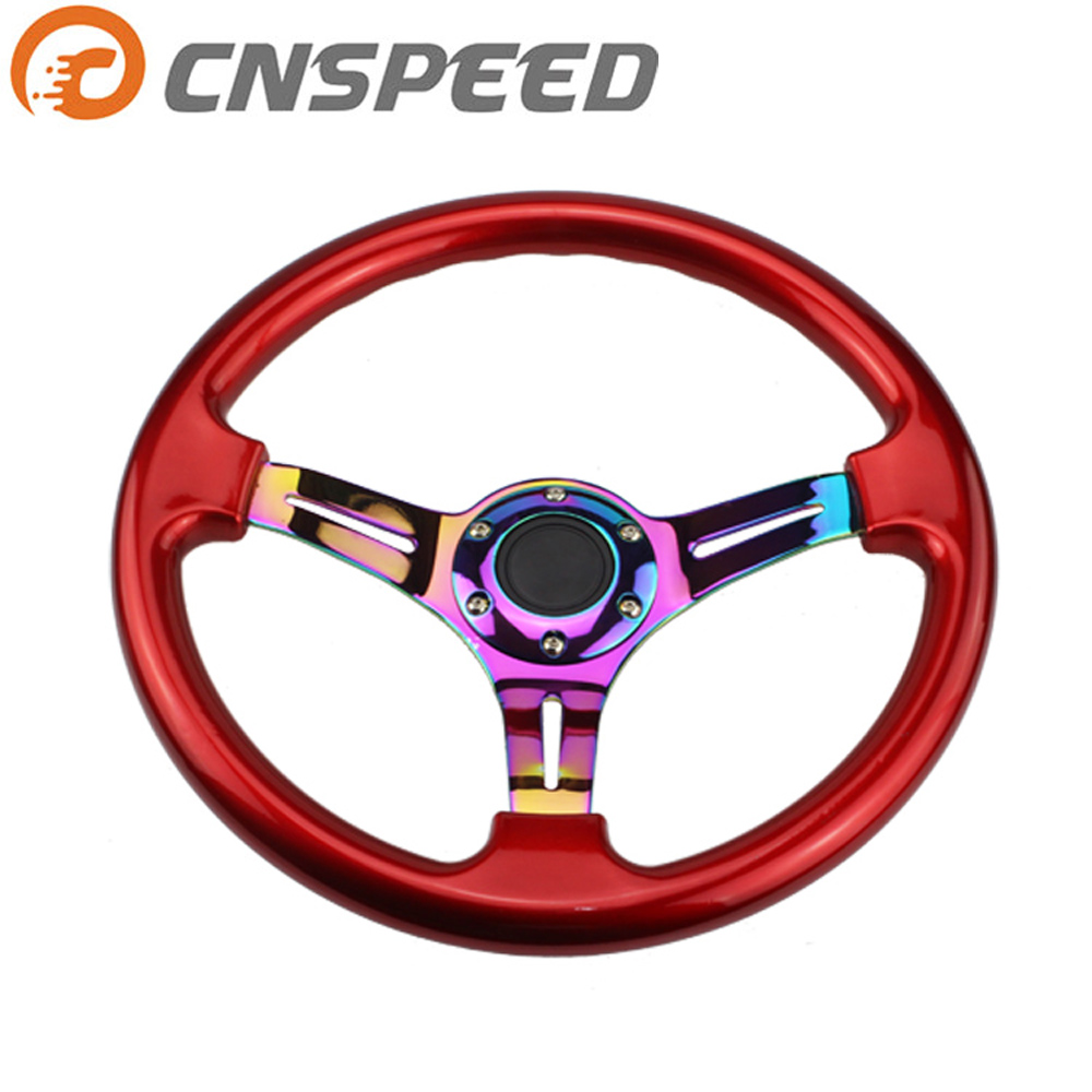 CNSPEED Neo Chrome 350mm 14inch ABS Steering 45mm Wheel Deep dish Universal Car Auto Racing Steering wheels YC100437