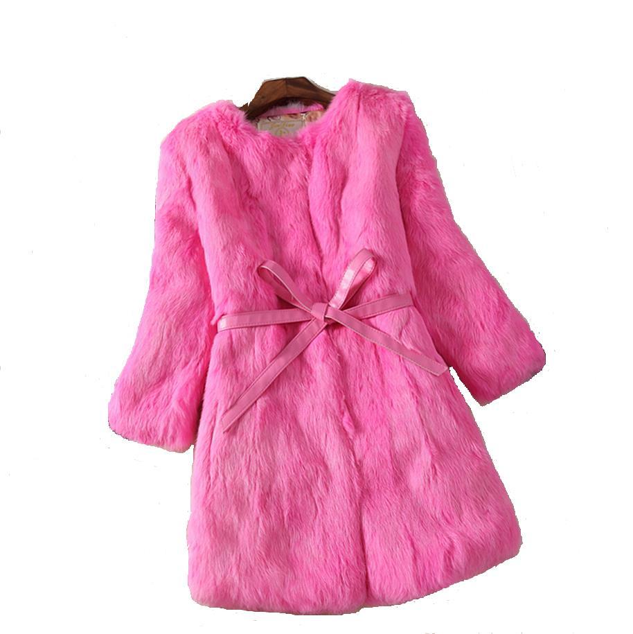 038d634b041c Automne et hiver nouveau 2018 mince de longues femmes pleine pelt fourrure  de lapin manteau de survêtement femmes veste plus la taille G28