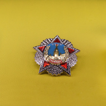 CCCP pin Russia order of victory badge Soviet USSR award medal replica Russia red star brooch for men patriot gift