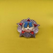 Emblema do pin CCCP Rússia ordem de vitória Soviética URSS réplica Rússia vermelho broche de estrela para homens patriot medalha de prêmio presente