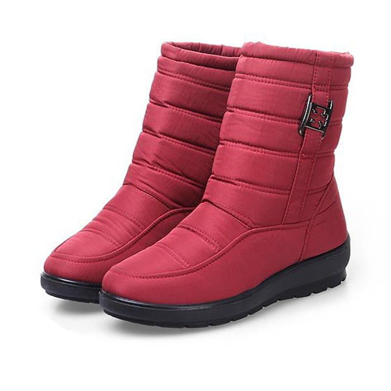 ФОТО 2016 Winter Mother Cotton Snow Boots Waterproof Non-slip Soft Soles Fashion Warm Short Snow Boots Big Size 35-42 Wholesale Hot