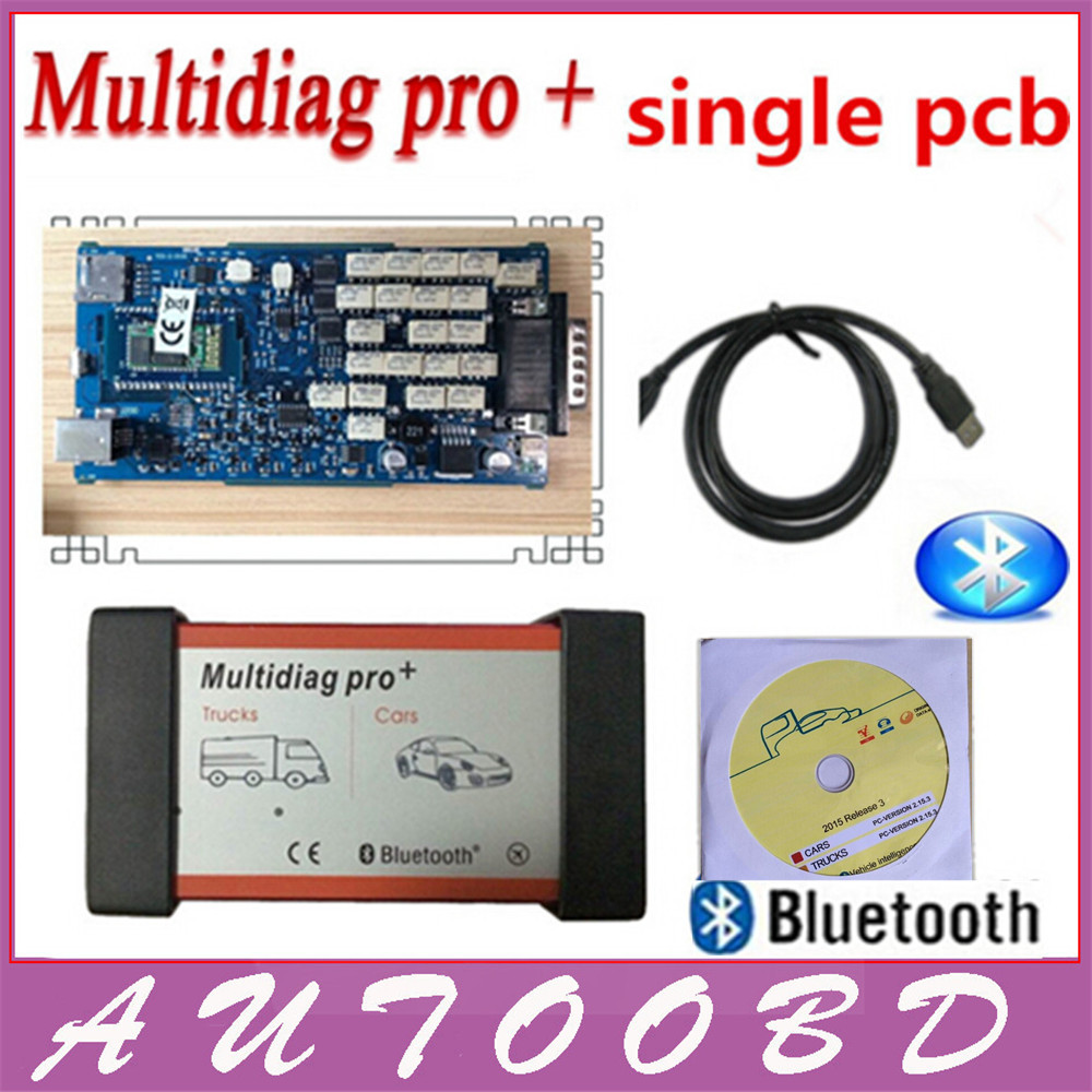 ФОТО Newly Multidiag Pro with Bluetooth+Single Board Quality A+++with 2014.R2 Keygen TCS CDP Pro Plus for CARs+TRUCKs+Generic 3 in 1
