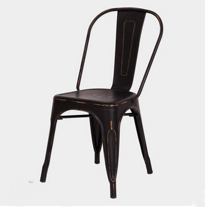 Gratis verzending Black Vintage Side Chair