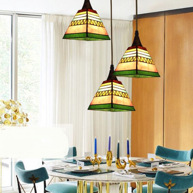 Tiffany European simple study countryside creative Tiffany pendant light  Mediterranean Restaurant pendant lamp DF82 lo1020 tiffany restaurant in front of the hotel cafe bar small aisle entrance hall creative pendant light mediterranean df66
