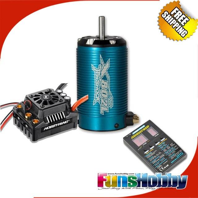 Tenshock X802LV2 6 polos Micro Motor DC sin escobillas y Hobbywing EZRUN Max8 V3 150A CES impermeable velocidad ControllerCod! X802lV2 + Max8