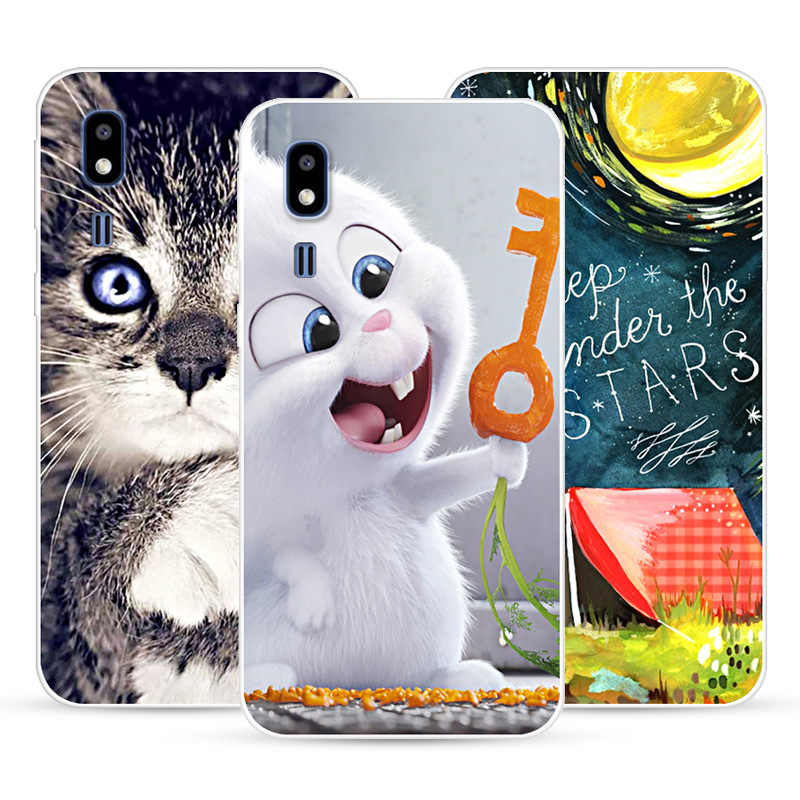Phone Case For Samsung Galaxy A2 Core Soft Silicone TPU Cute Cat Painted Back Cover For A2 Core Case