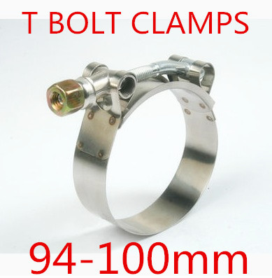 4pcs/lot 94-100mm T BOLT CLAMPS Turbo Pipe Hose Coupler Stainless Steel