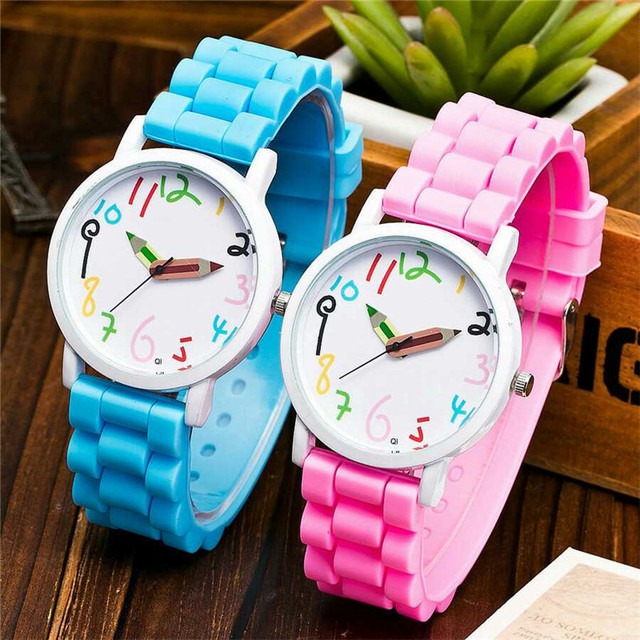 New Fashion Gnova Children's Watches Color Pencelin Casual Girl Boys Wristwatch