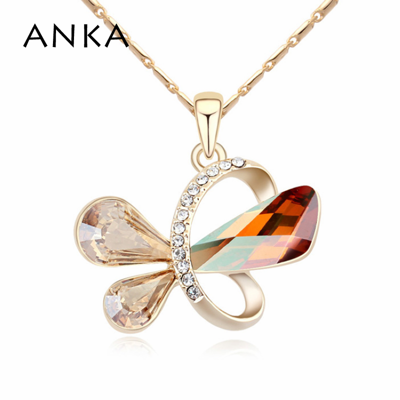 Jewelry Colares Femininos free Shipping Butterfly Crystal Pendant Necklace Crystals from Austria #105437