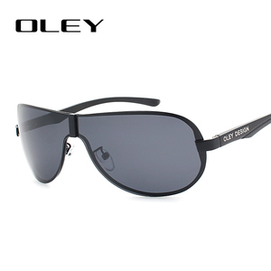 Image 4 - OLEY Brands Aluminum Polarized Driving Sunglasses for Men glasses Designer with High Quality Big frame rimless  sun glasse