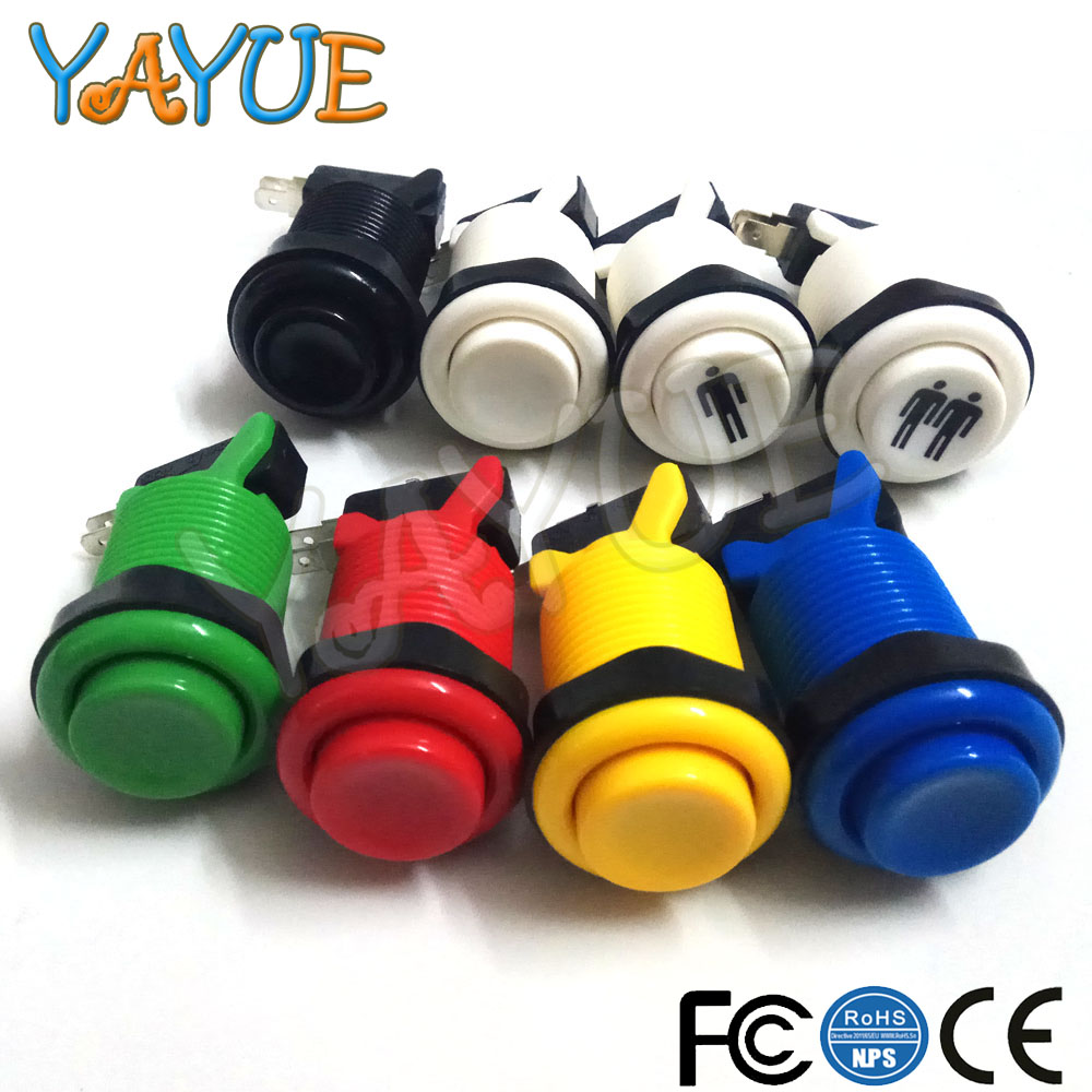 American Style Arcade Push Button black player Durable Multicade MAME Jamma Game Long Switch Mult-color 1 pcs(China)