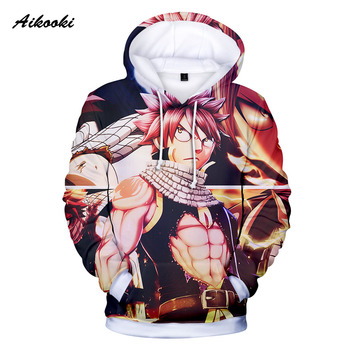 Aikooki 3D Fairy Tail Hoodies Men/Women Hoodie Sweatshirt 3D New Anime Fairy Tail Hooded Boys/Girls Thin Polluvers Tops Hoody