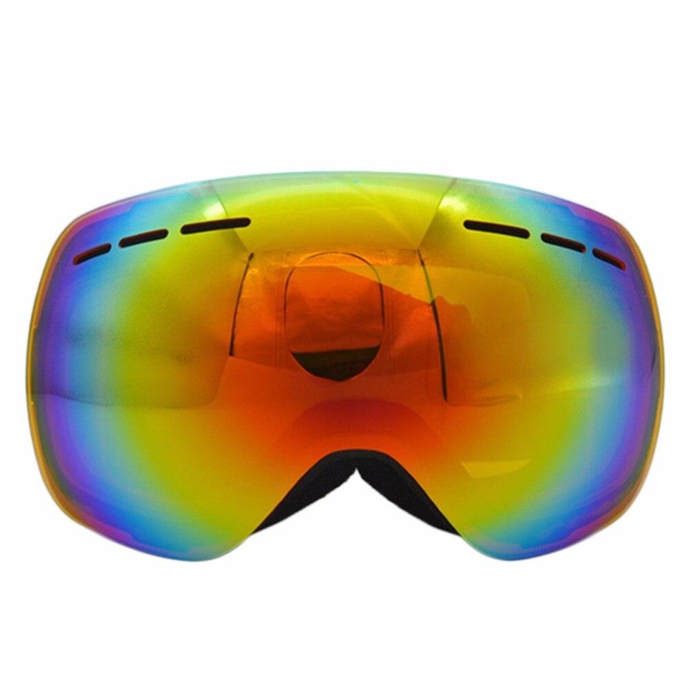 Prix pour Grand Sphérique Masque Double Ski Lunettes UV400 Anti Brouillard Grand Ski Lunettes Ski Hommes Femmes Neige Snowboard Coupe-Vent Lunettes NOUVEAU