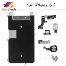 1 комплект, 8 шт., бесплатная доставка, полный комплект запасных частей для iPhone 6S с кнопкой возврата, динамиком, гибким кабелем и фронтальной камерой для Apple 6S