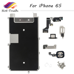 Image 1 - 1 Set 8 Piece Free Shipping Full Set Spare Parts for iPhone 6S with Home Button+Speaker+Flex Cable+Front Camera For Apple 6S