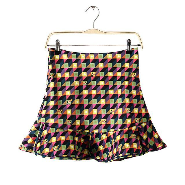 spring new fashion temperament color houndstooth fish tail female skirt female was thin wild mini skirt female in Skirts from Women 39 s Clothing
