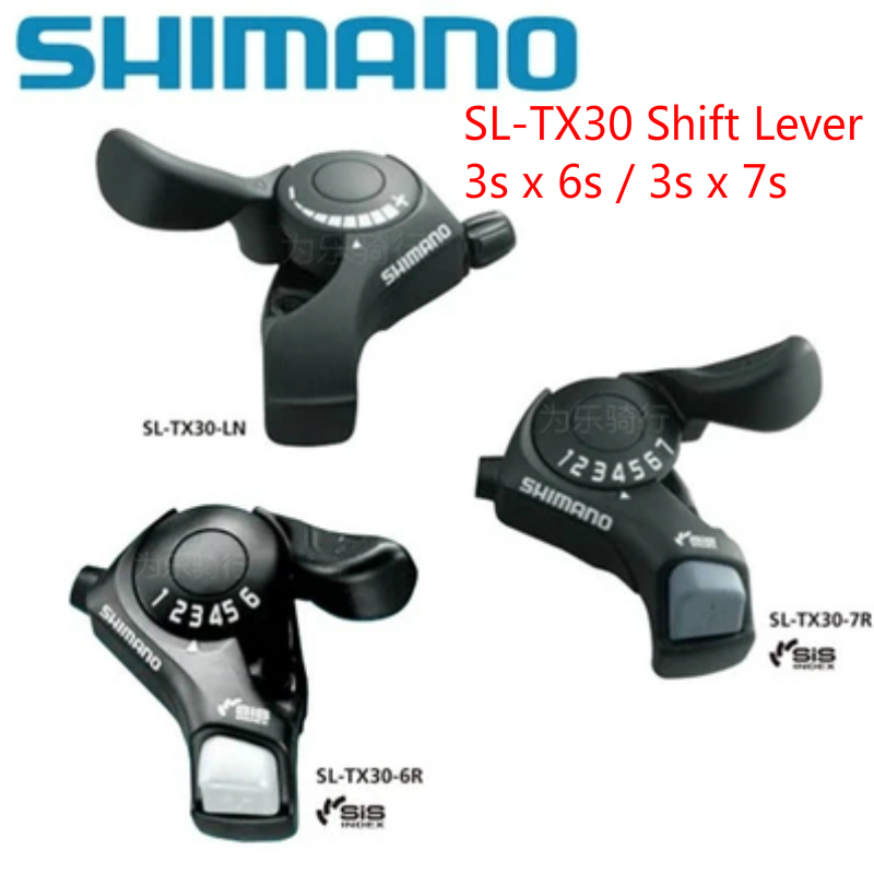 SHIMANO Bicycle Tourney Shifters Shift Levers SL-TX30 3x7S Black For Cycling
