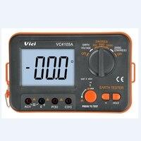 VICI Digital LCD Earth Resistance Tester Ground Resistance Voltage Meter Lightning Rod Measuring Instrument Tools VC4105A